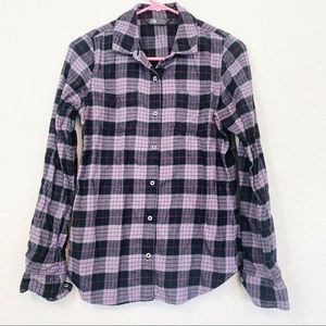 The North Face Purple Plaid Flannel Button Down